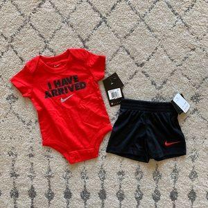 Nike 3-6 Month Baby Onesie & Basketball Shorts